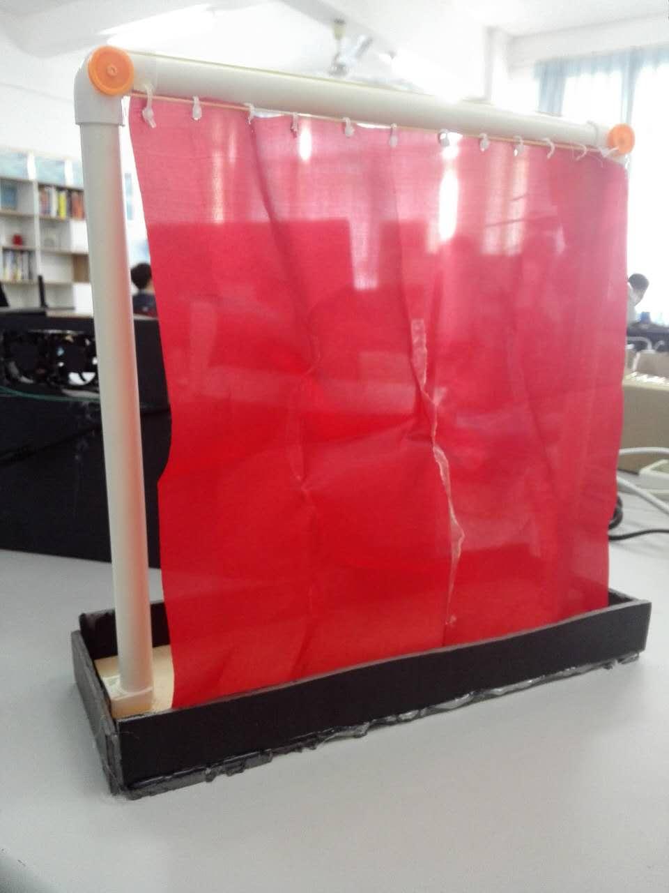 模拟室内窗帘