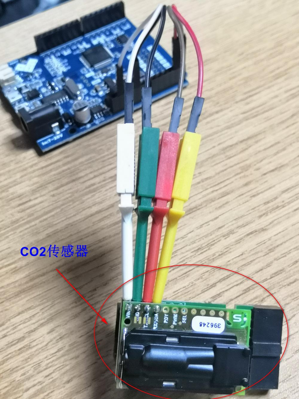 二、云端设置 前面我们使用了SCD30模块采集到了室内空气质量-CO2的指标,为了更加的实用,我们将采集到的数据:CO2、温度、湿度数据上传到云端(这里以OneNet平台使用http协议上传做演示)。 1、首先我们在OneNet平台上建立好我们的设备。 我这里建立一个HTTP协议方式的设备、一个应用、三个数据流。 a、设备信息:  b、应用界面:  c、数据流:  2、上传数据测试: 使用网络调试助手,建立一个TCP client,发送如下HTTP包进行测试: